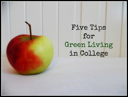 Five Tips for Green Living in College