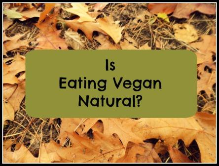 Is Eating Vegan Natural?