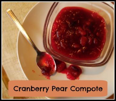 Cranberry Pear Compote