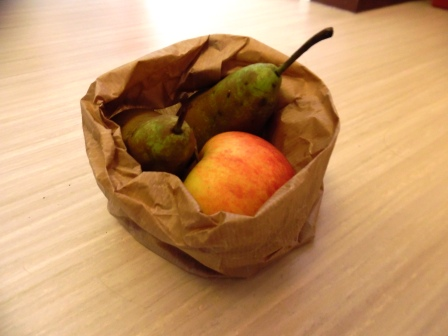Fruits in paper