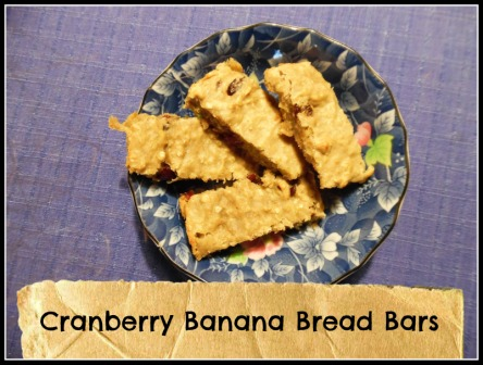 Cranberry Banana Bread Bars