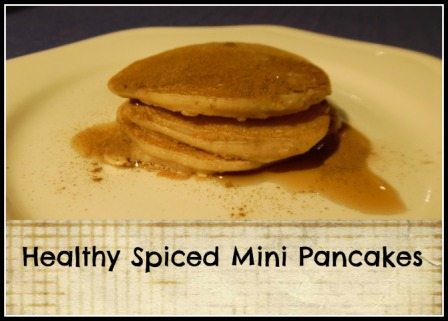 Healthy Spiced Mini Pancakes