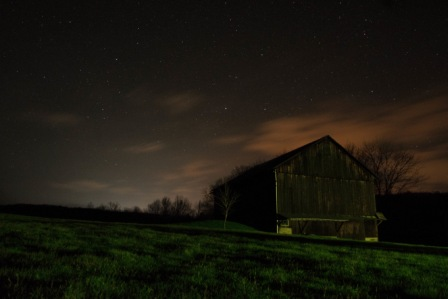 shed in the night