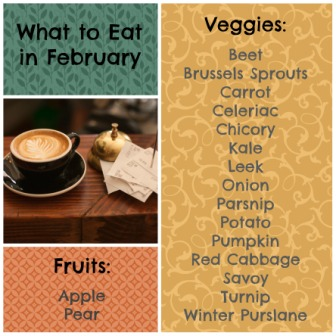 what to eat in february list
