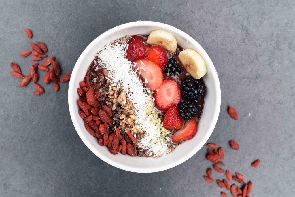 Create your own custom smoothie bowl by just picking everything you like
